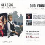 2月29日の土曜日はクラッシック音楽。DUO VIONET