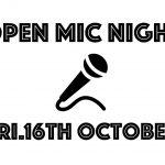 10月16日の金曜日は     OPEN MIC NIGHT  素人名人会です。